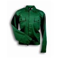ITAL.COTTON SHORT COAT GREEN