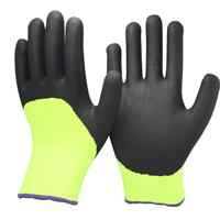 HIGH VIS. GLOVE LINED IN ACRYLIC