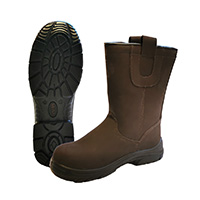 BROWN BOOTS FUR PADDED