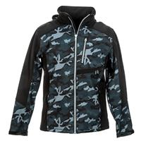 CAMOUFLAGE SOFTSHELL PADDED HOODED JACKET